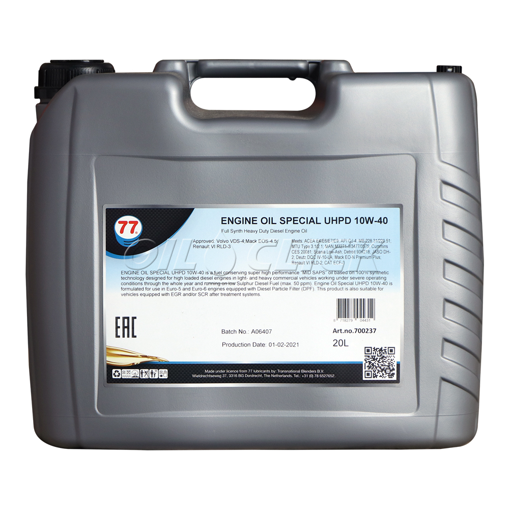77 ENGINE OIL SPECIAL UHPD 10W-40 20L