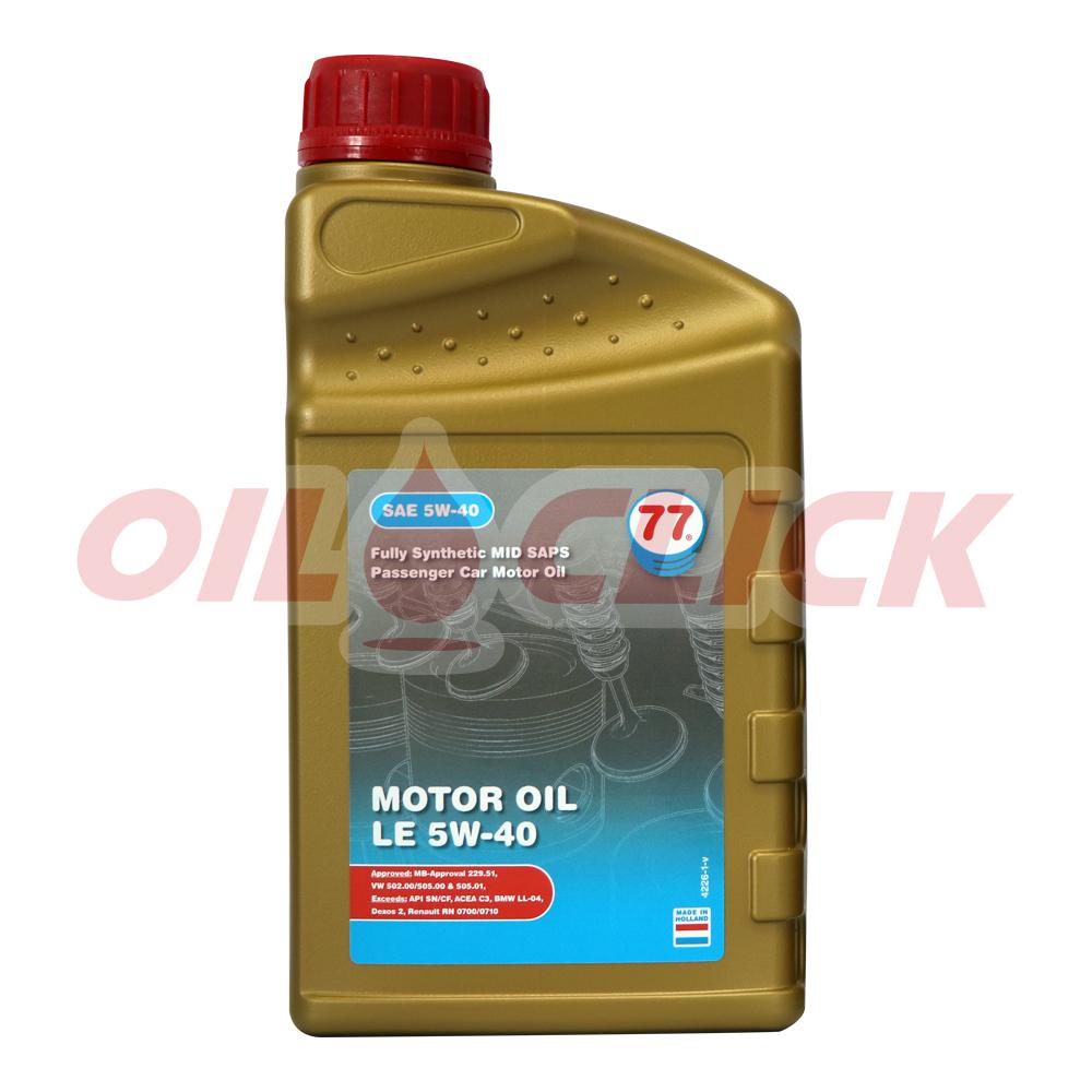[77 LUBRICANTS] 77 엔진오일 MOTOR OIL LE 5W-40 1L