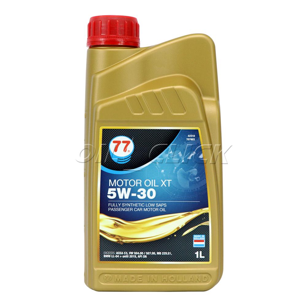 [77 LUBRICANTS] 77 엔진오일 MOTOR OIL XT 5W-30 C3 1L