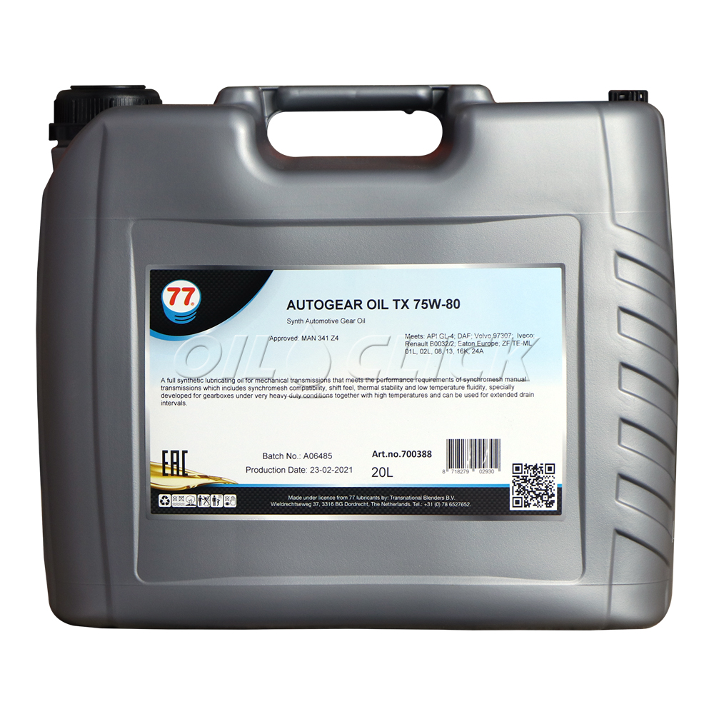 77 AUTOGEAR OIL TX 75W-80 20L