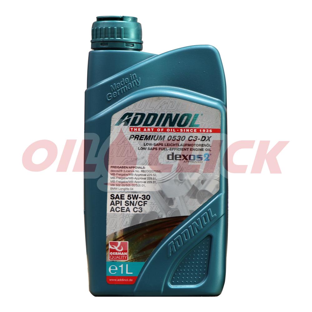 아디놀 ADDINOL 프리미엄 0530 C3 DX 5W-30 dexos2 엔진오일 1L