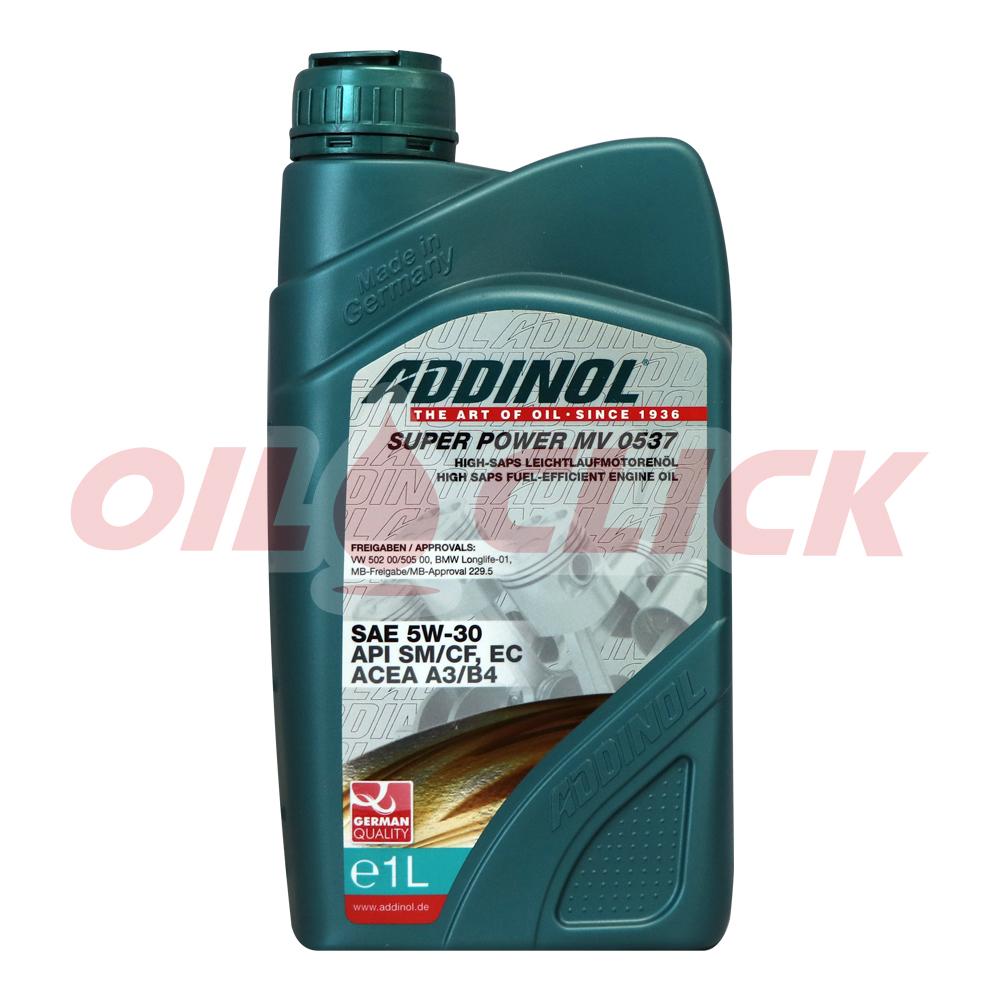 아디놀 ADDINOL 엔진오일 슈퍼파워 5W-30 1L MV 0537