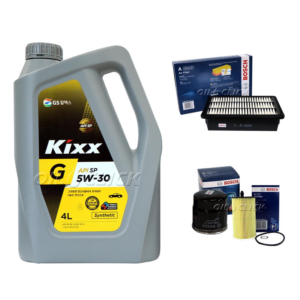 [묶음상품] 뉴모닝 가솔린 1.0 (08~11년) / 킥스 G 5W-30 SP 4L + 오일필터 + 에어필터