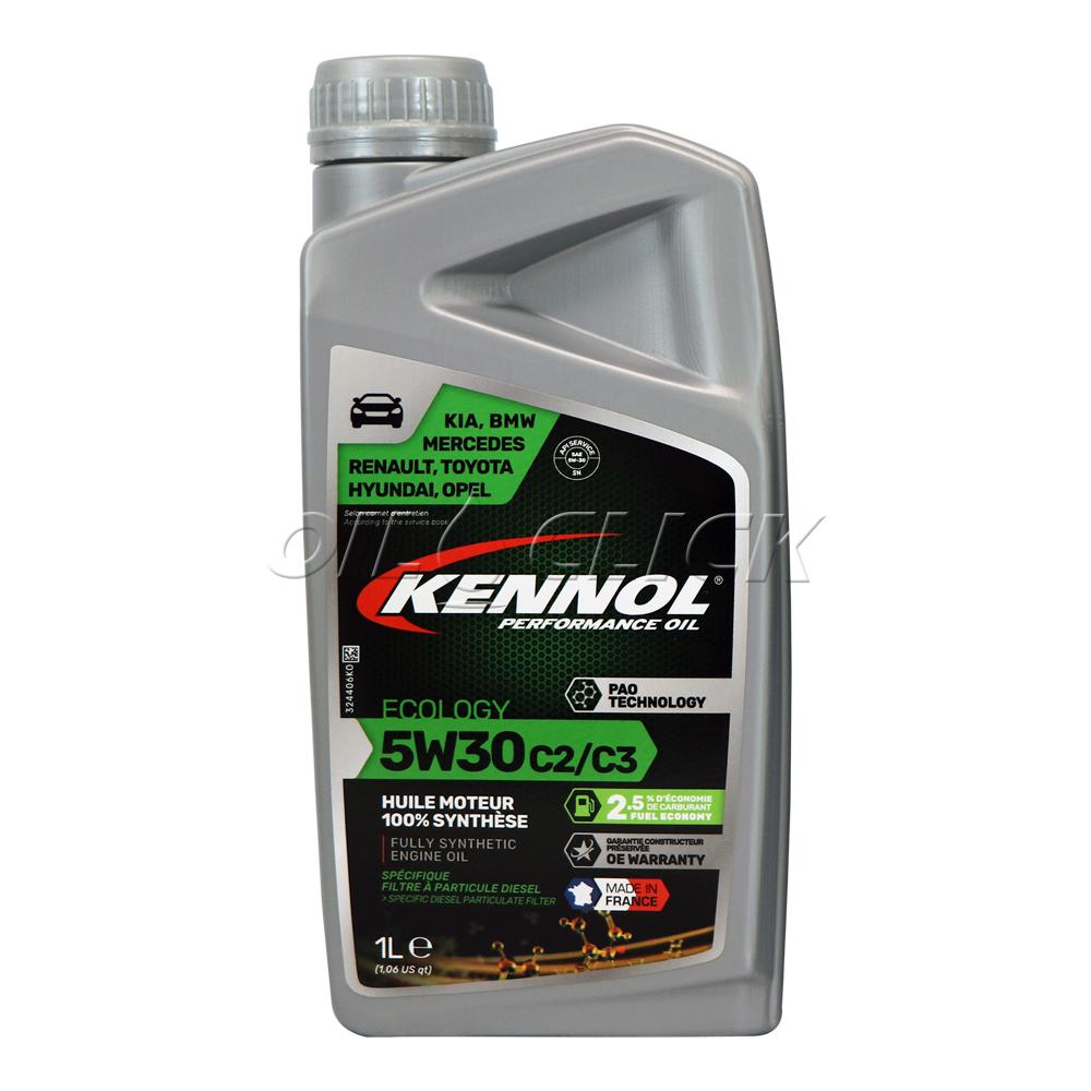 케놀 KENNOL 에코로지 5W-30 C2/C3 엔진오일 1L