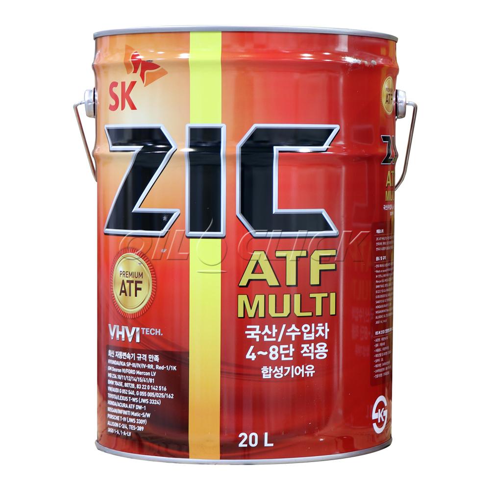 지크 자동미션오일 ATF 멀티 Multi 20L