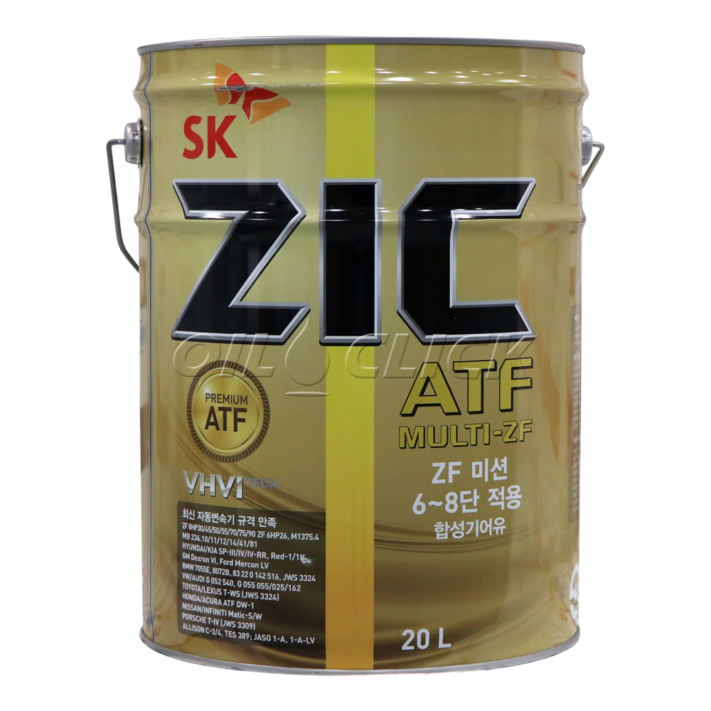 [ZIC] 지크 ATF 멀티 ZF 자동미션오일 ZF 6단 8단 20L