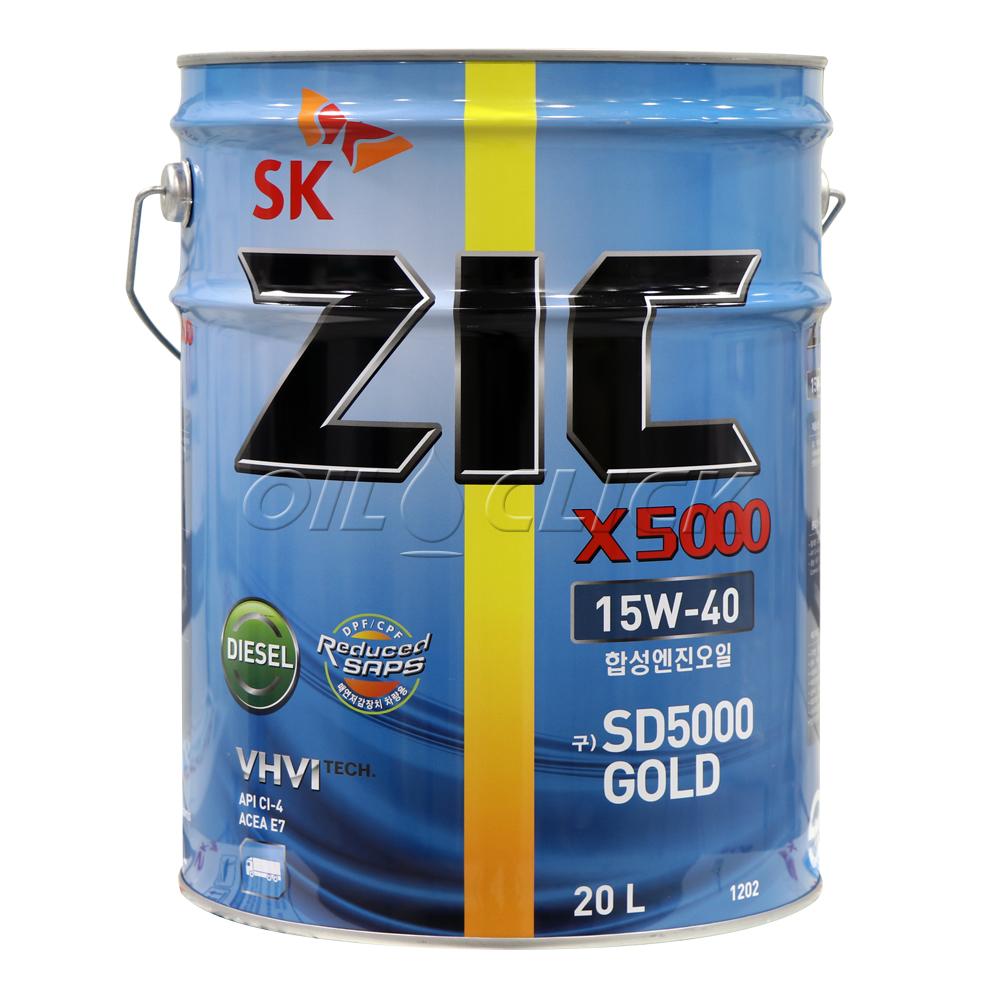 지크 ZIC X5000 15W-40 CI-4 20리터
