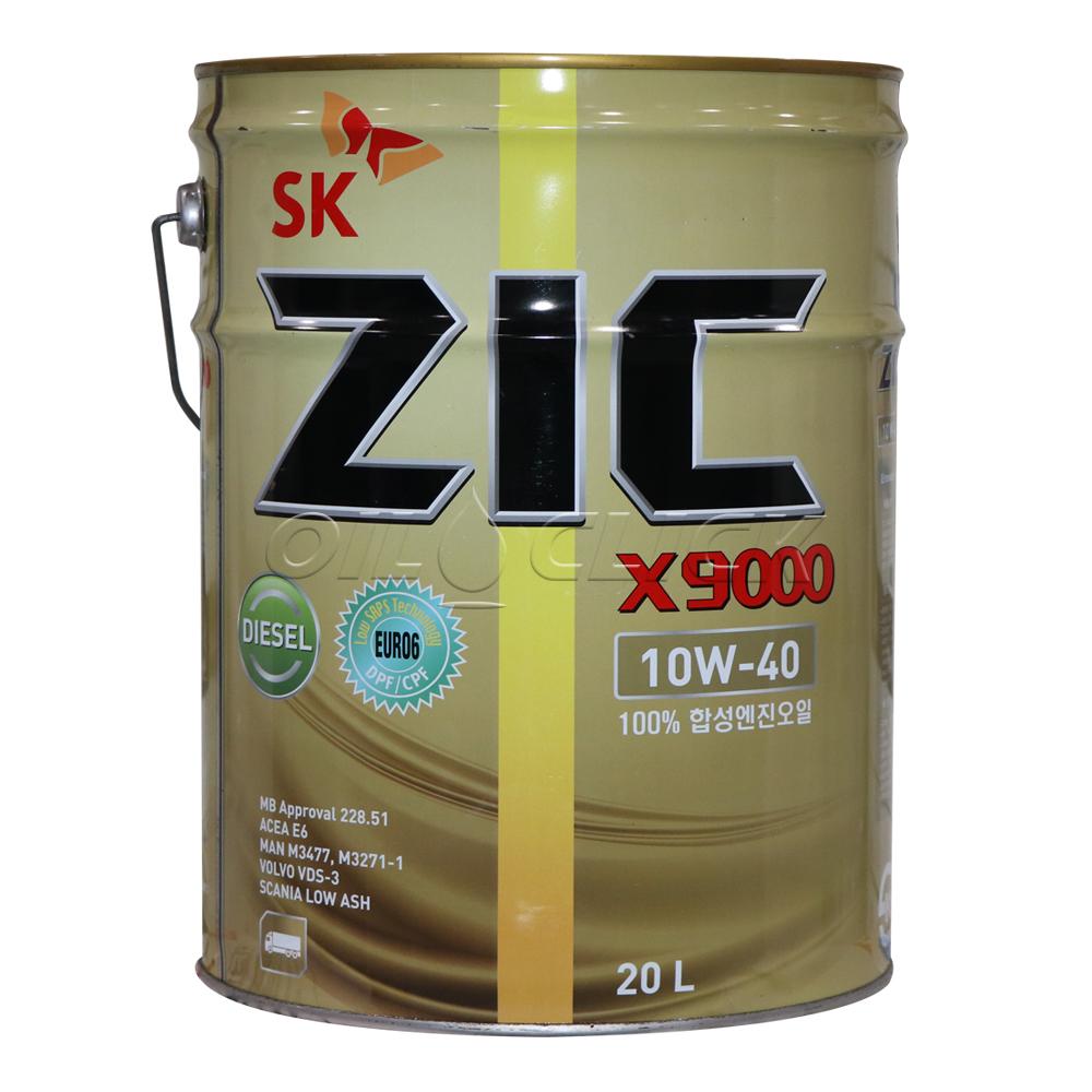 지크 ZIC X9000 10W-40 E6/E4 20리터