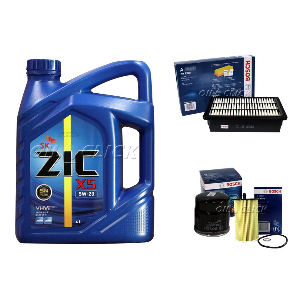 [묶음상품] SM3 네오 (L38) 가솔린 1.6 (14년~현재) / SK 지크 X5 5W-20 SN PLUS 4L + 오일필터 + 에어필터