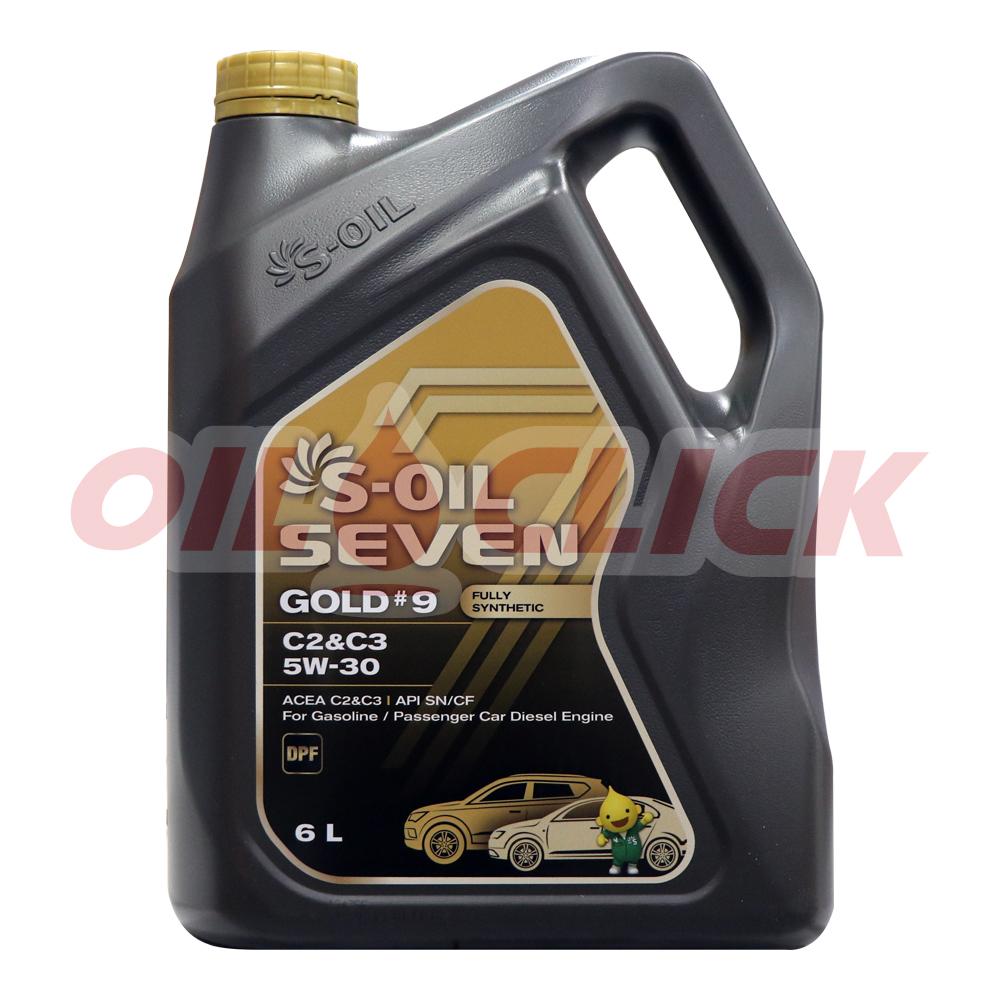 [S-OIL] 세븐 엔진오일 골드 #9 5W-30 C2/C3 6L